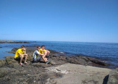 Bornholm północne wybrzeże skały