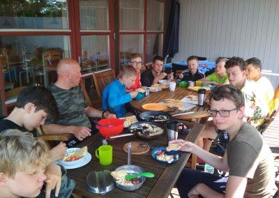 Bornholm dzień odpoczynku i pyszna jajecznica na śniadanie