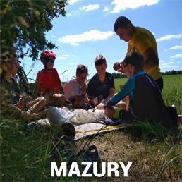 Obóz rowerowy dla dzieci i młodzieży Mazury