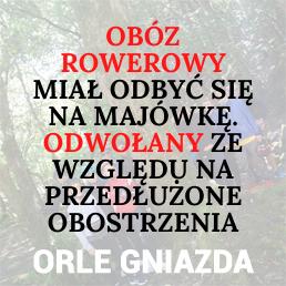Obóz rowerowy dla dzieci i młodzieży Orle Gniazda